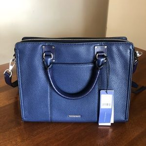 REBECCA MINKOFF | Navy top zip bree purse
